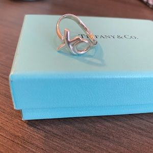 Tiffany & Co. Paloma Picasso XO Ring Size 5.5